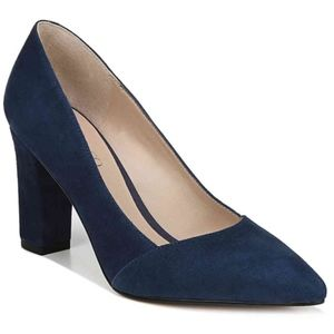 Franco Sarto Abree Pumps Suede Midnight Blue NEW